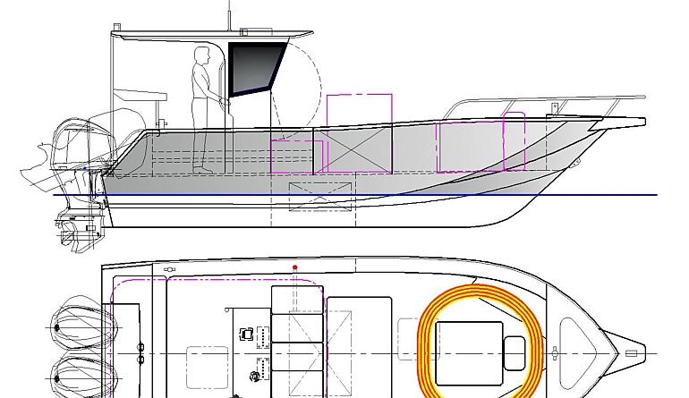 """Abbagrabba"" – 7.3m (24′) Air Rider   Welcome to Global Marine Design- Marine Kits"